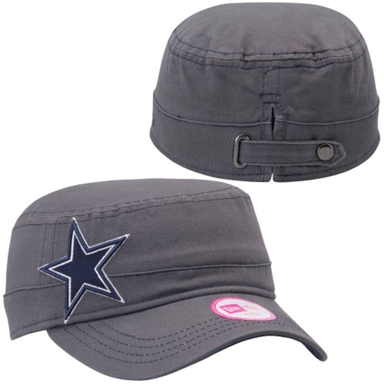 dfbfca58f98b9 Dallas Cowboys New Era Women s Chic Cadet Military Adjustable Hat -  Graphite Navy Blue