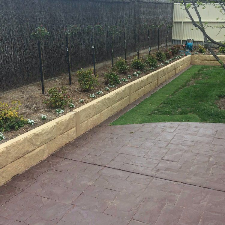 Why Use Concrete Sleepers For Your Retaining Wall My Professional Services In 2020 Concrete Sleepers Concrete Sleeper Retaining Walls Retaining Wall