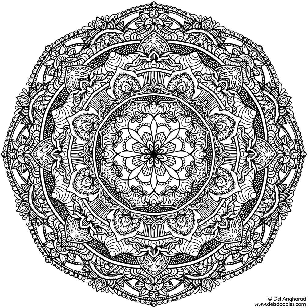 krita mandala 17b coloring pages doodles zentangles. Black Bedroom Furniture Sets. Home Design Ideas