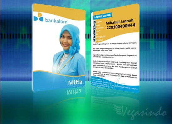 Id Card Bank Kaltim  Plastic Card    Plastic Card And