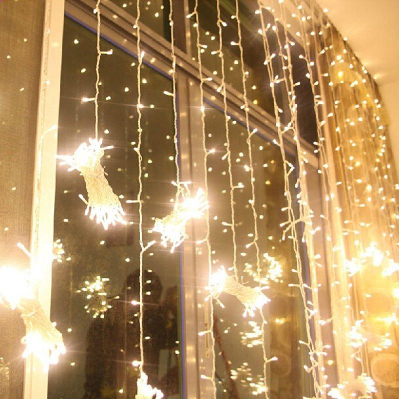 6M x 3M 600 LED Home Outdoor Holiday Joulu Koristeellinen Häät xmas