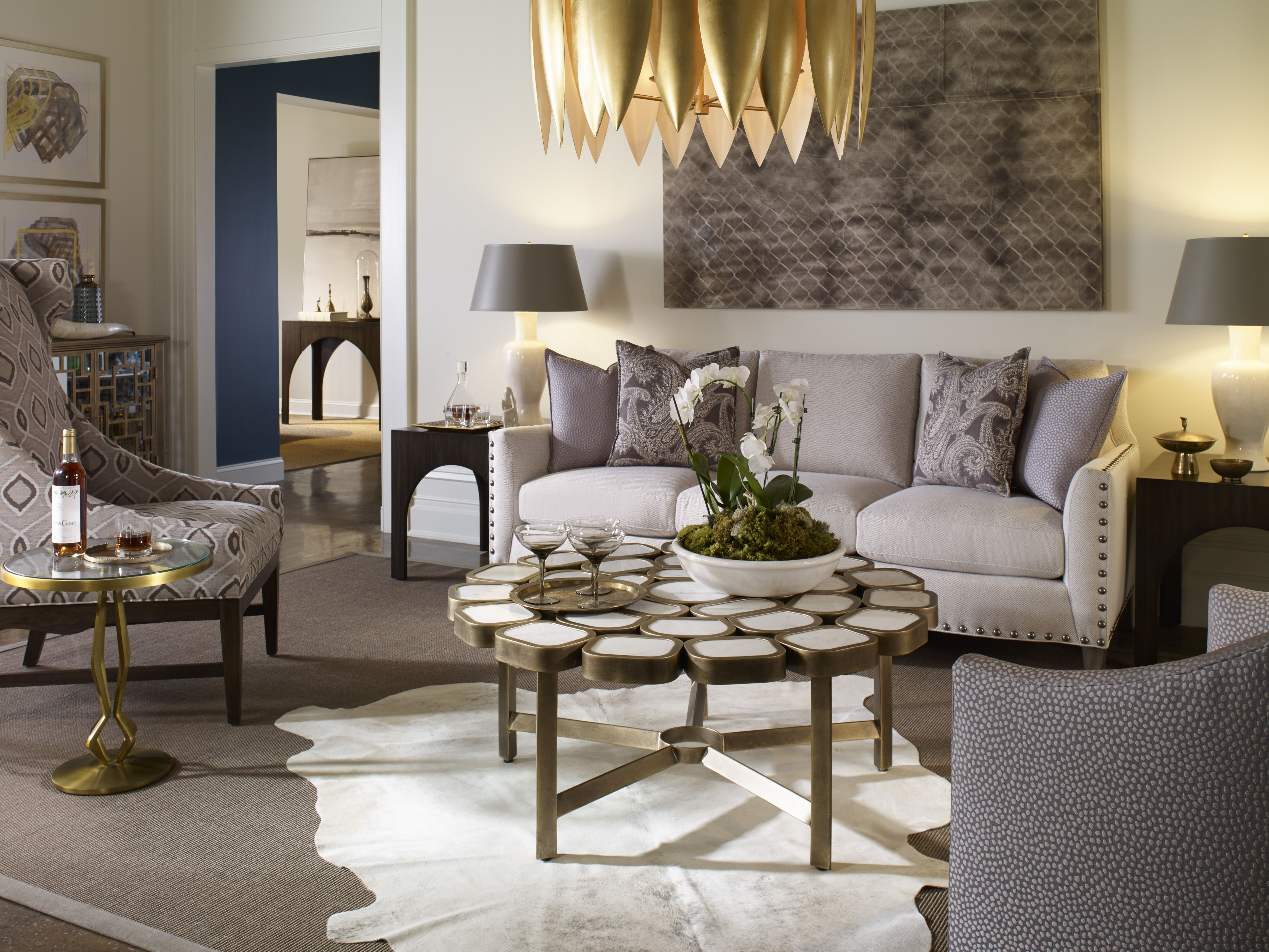 Modern with classic roots this living room