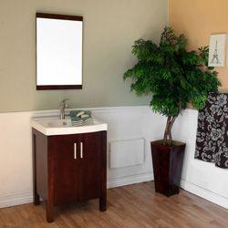 """24"""" Bellaterra Home Bathroom Vanity 804381 #BathroomRemodel #BlondyBathHome #BathroomVanity  #ModernVanity"""