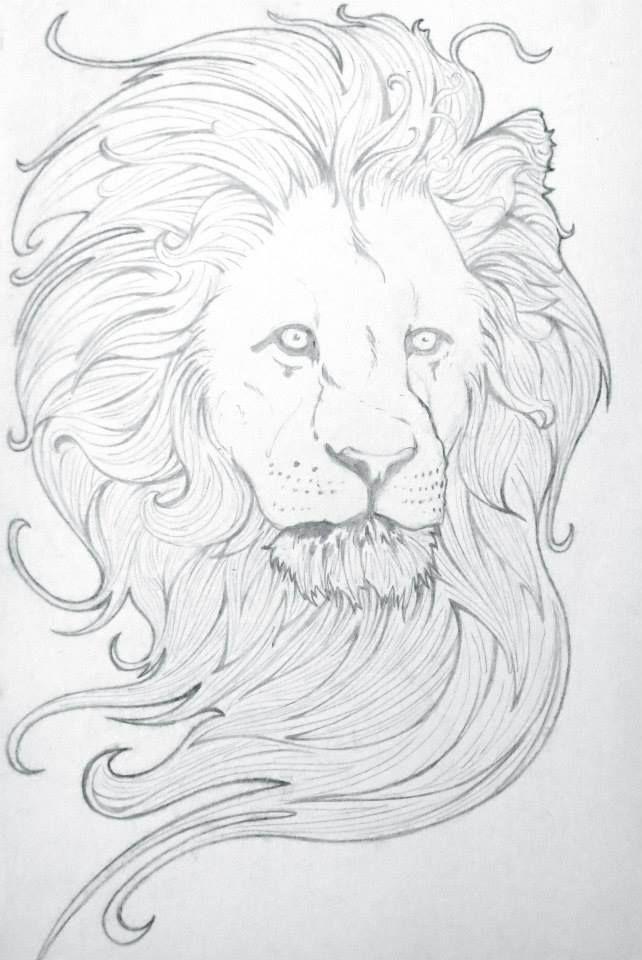 Henry Goyder Art Nouveau Lion Pencil on Paper