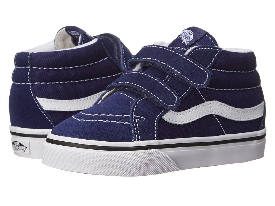 39a243143c Vans Kids SK8 Mid Reissue V (Toddler) Kids Shoes Patriot Blue True White