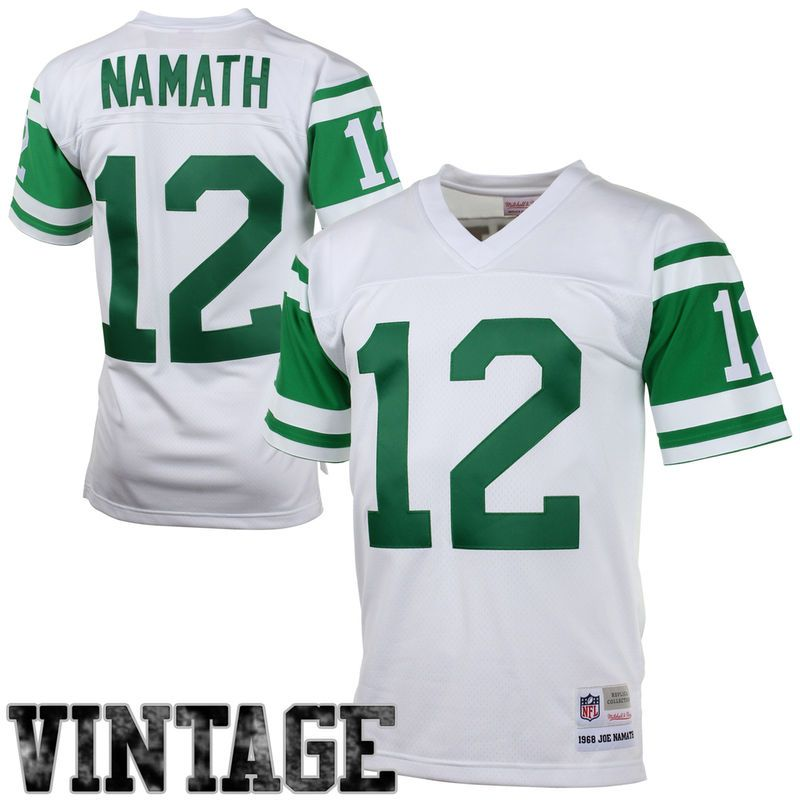 Discount Joe Namath New York Jets Mitchell & Ness 1968 Retired Player Vintage  for cheap