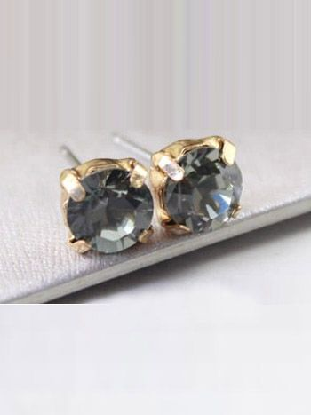 #GREY #DIAMOND #STUD #EARRINGS