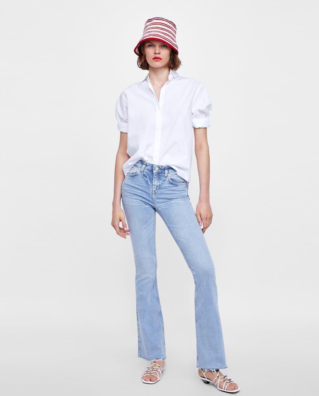 dbd7d684 JEANS FLARE SUPER BLEACH | Zara women | Bleached jeans, Jeans, Flare ...
