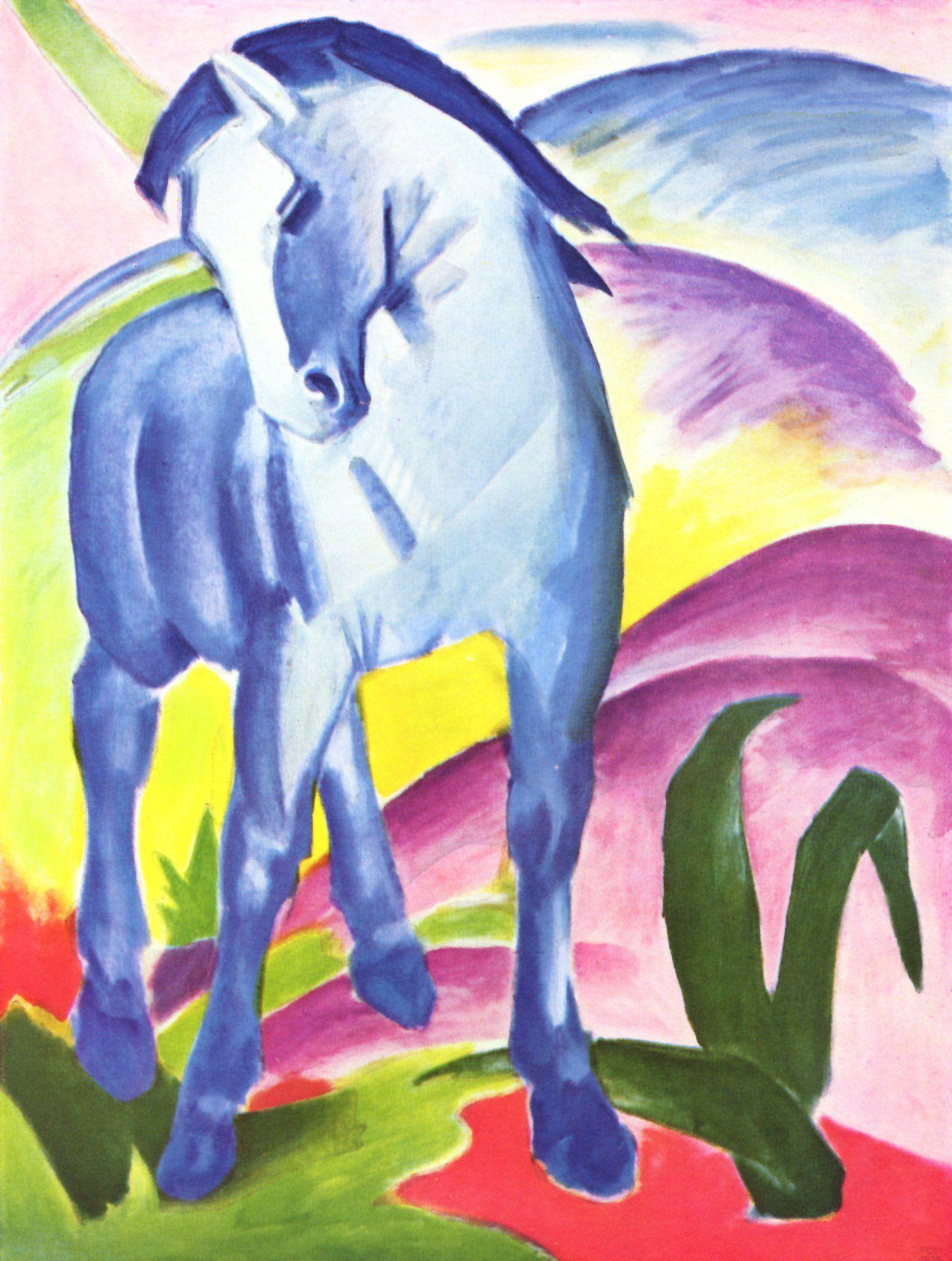 Franz Marc Blaues Pferd Malvorlage   Catherine Miller ...