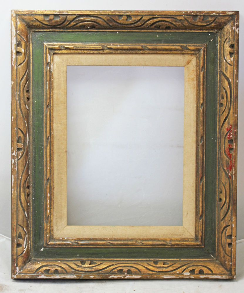 Vintage Mid Century Gilded Spanish Style Hand Carved Wood Frame 12 X 9 Carved Wood Frame Picture On Wood Wood Picture Frames