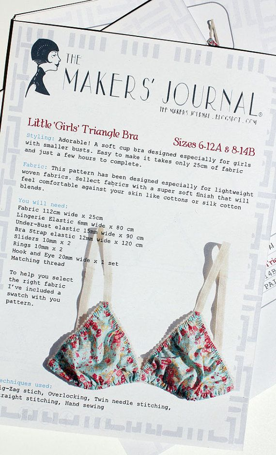Soft Cup Triangle Bra Sewing Pattern Designed For Petite Women With