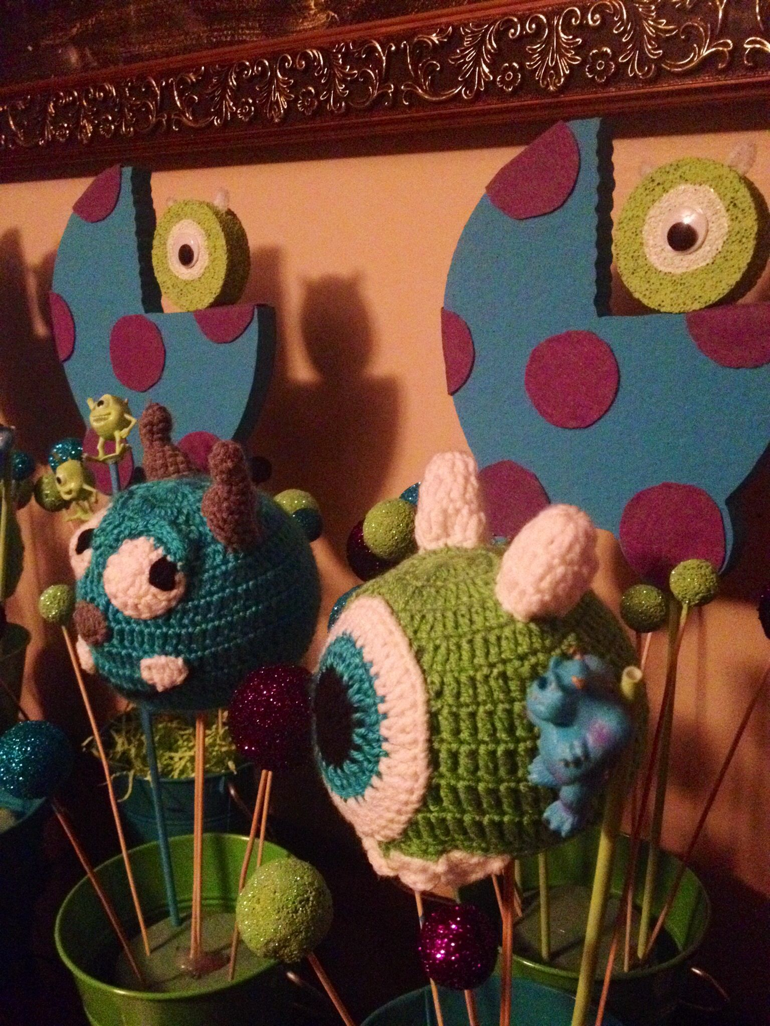 Monster Inc Baby Shower Decorations Monsters Inc Baby Shower Centerpieces Pari Decorations