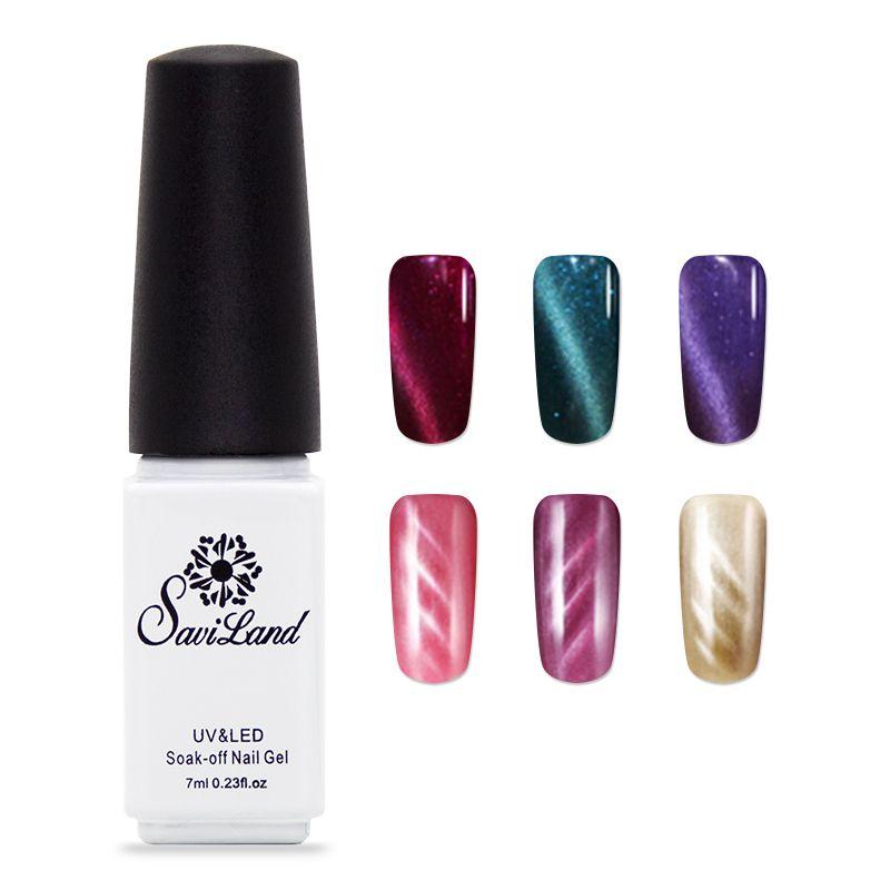 Saviland 3d cat eye soak off uv & led gel nagel magnet für nail art weg tränken Herrliche nagel gel Lack lampe für nägel