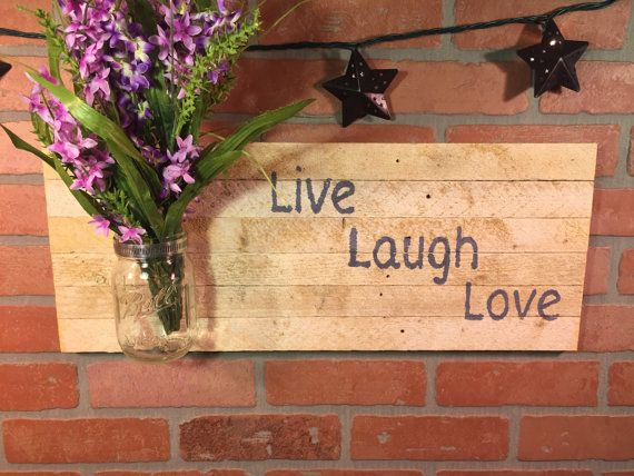 Rustic Live Laugh Love sign wall decor by CraftsbyDerek on Etsy ...