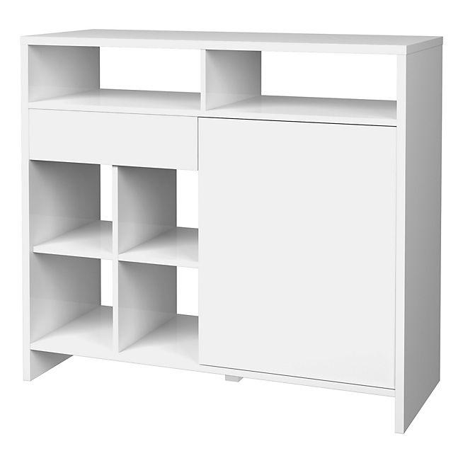 Maja Snack Bar Blanc Laqué Idées Petit Appartement Pinterest - Table laque blanc alinea pour idees de deco de cuisine