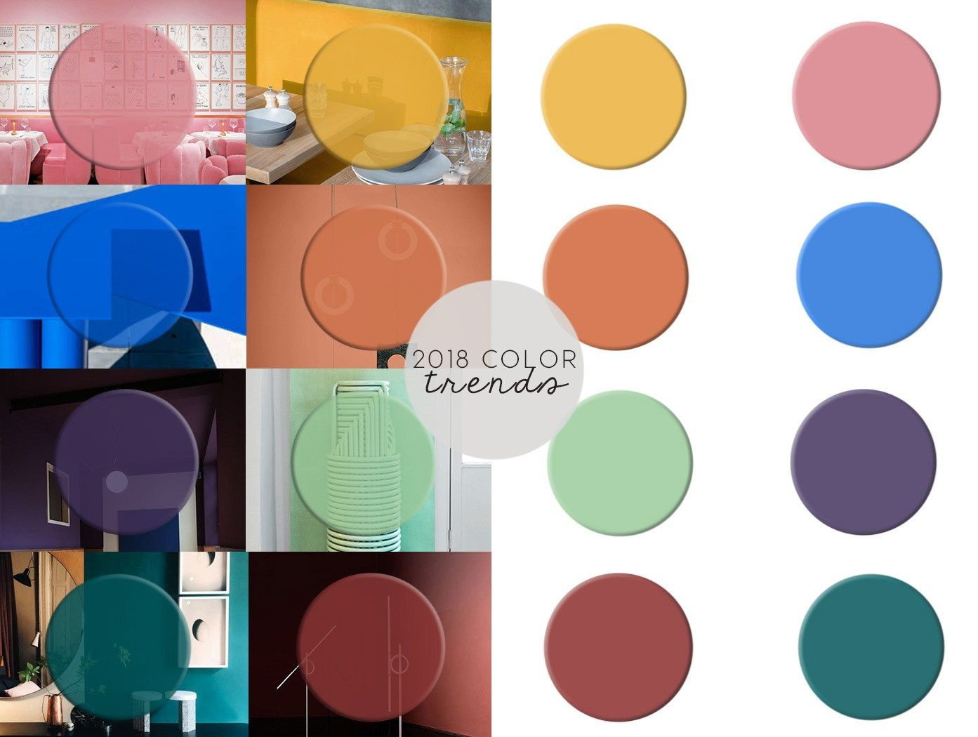 A Roundup Of The Interior Color Trends For 2018 Starting From Milan Design Week New