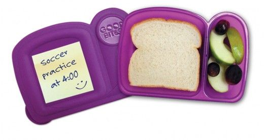 GOOD BITES makes it as easy as A-B-C to prepare your child for the day! Adhere a love note or reminder about after school activities. Box up a nutritious snack/lunch and utilize dual compartments to separate food. ...