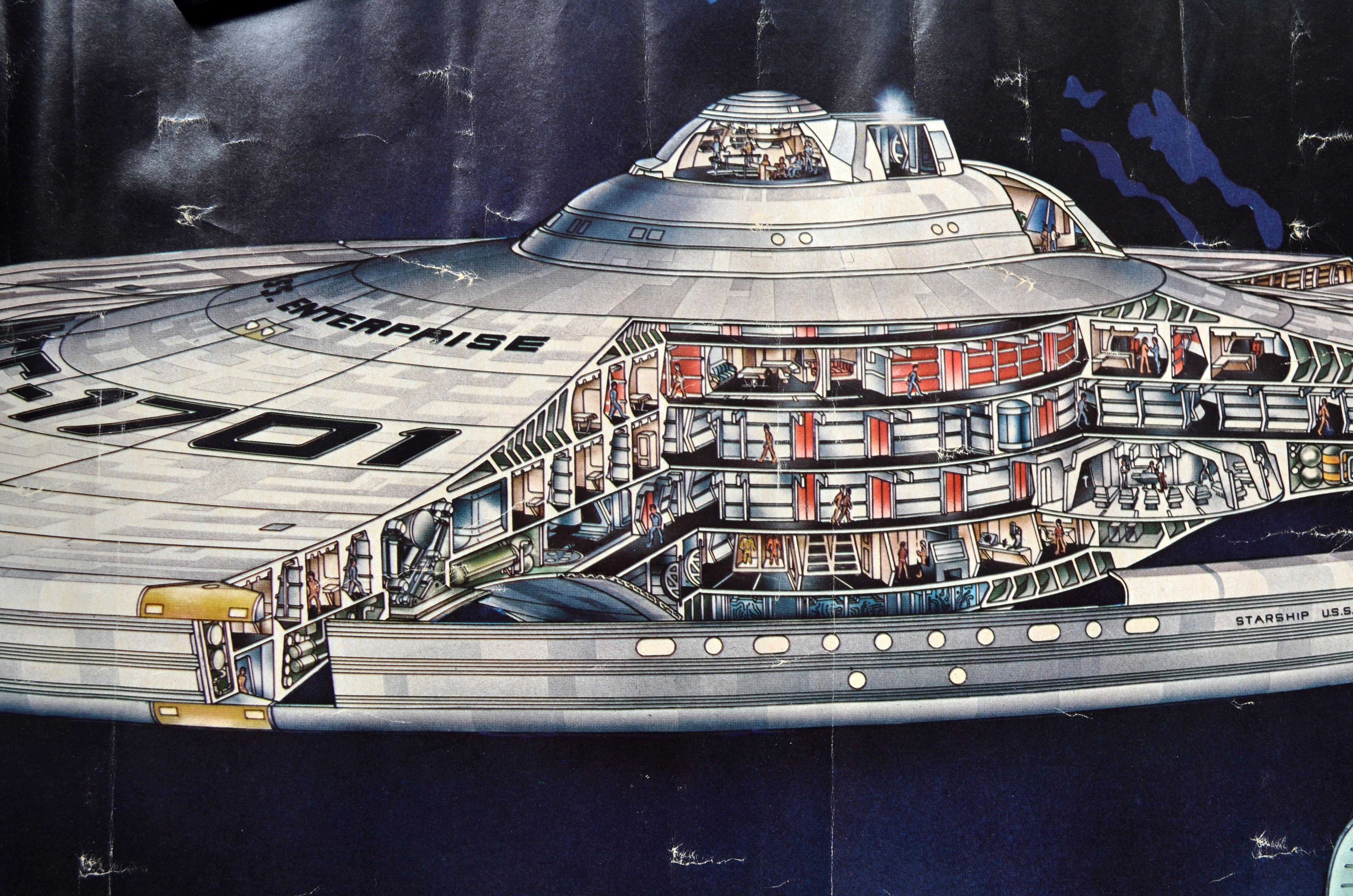 detail from star trek tmp poster of the enterprise refit cutaway