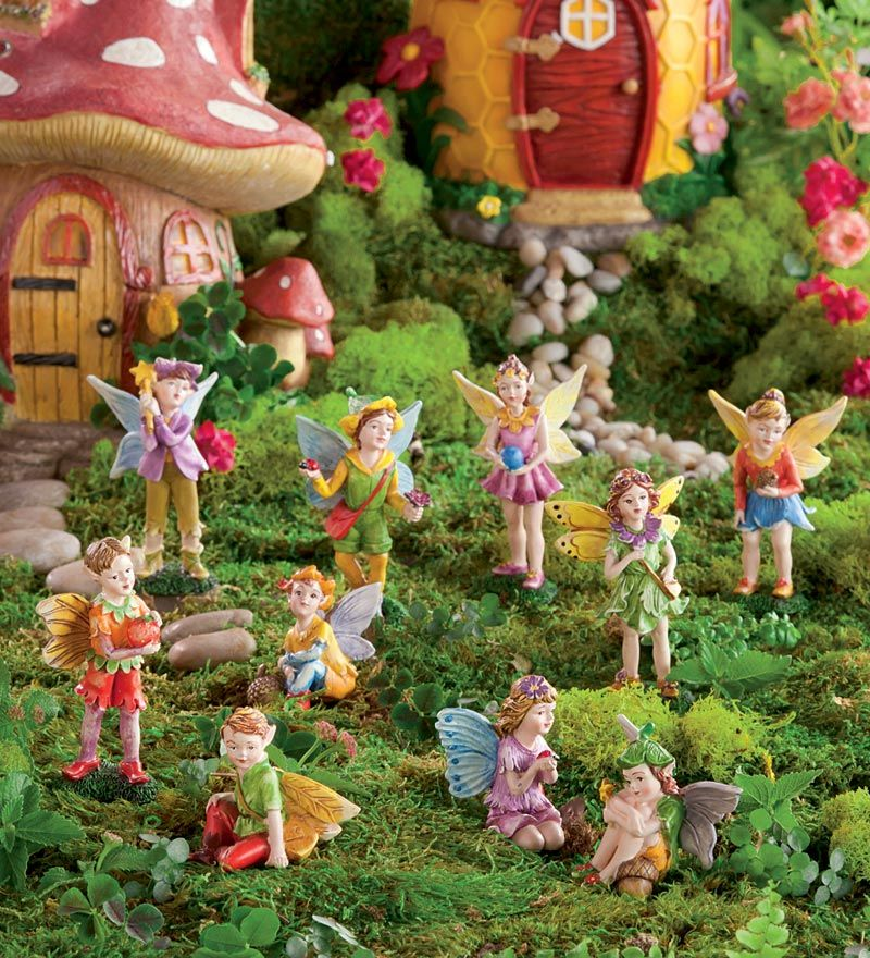 Nice Create A Wondrous Fairy Garden With HearthSongu0027s Magical Fairy Village!  Choose From 5 Handcrafted Fairy Houses U0026 Matching Fairies To Create Your  Own Fairy ...