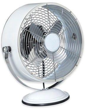 Deco Breeze Retro Swivel 2 Speed Table Fan In White