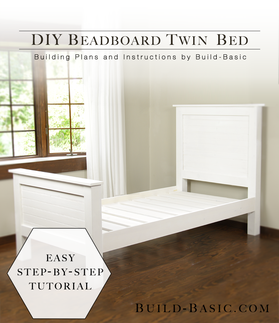 Build a DIY Twin Bed with Beadboard Detail - by @BuildBasic www ...
