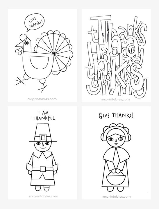 Free Thanksgiving coloring pages for kids | Mr Printables ...