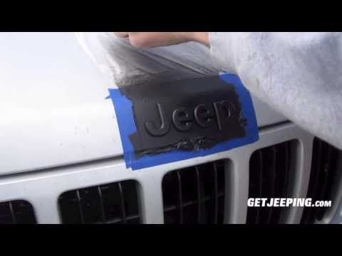 How To Plasti Dip Emblems Getjeeping Youtube Diy Jeep Jeep Wrangler Diy Jeep Hacks