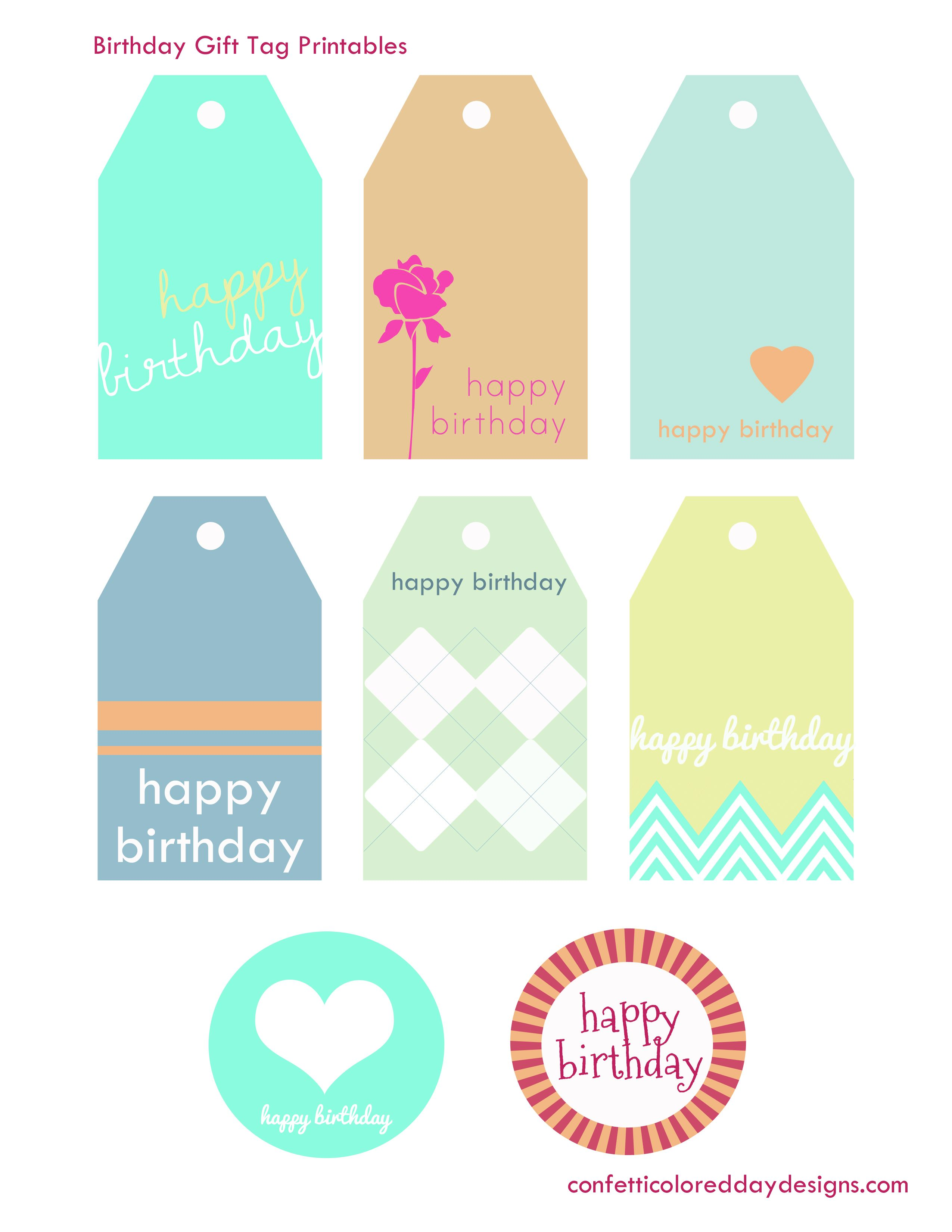 Free printable birthday gift tags from confetti colored day free printable birthday gift tags from confetti colored day designs negle Gallery