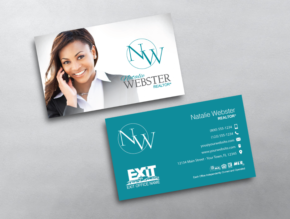 Exit Realty Business Card Style Exr213 Modern Business Cards Modern Business Cards Design Exit Realty