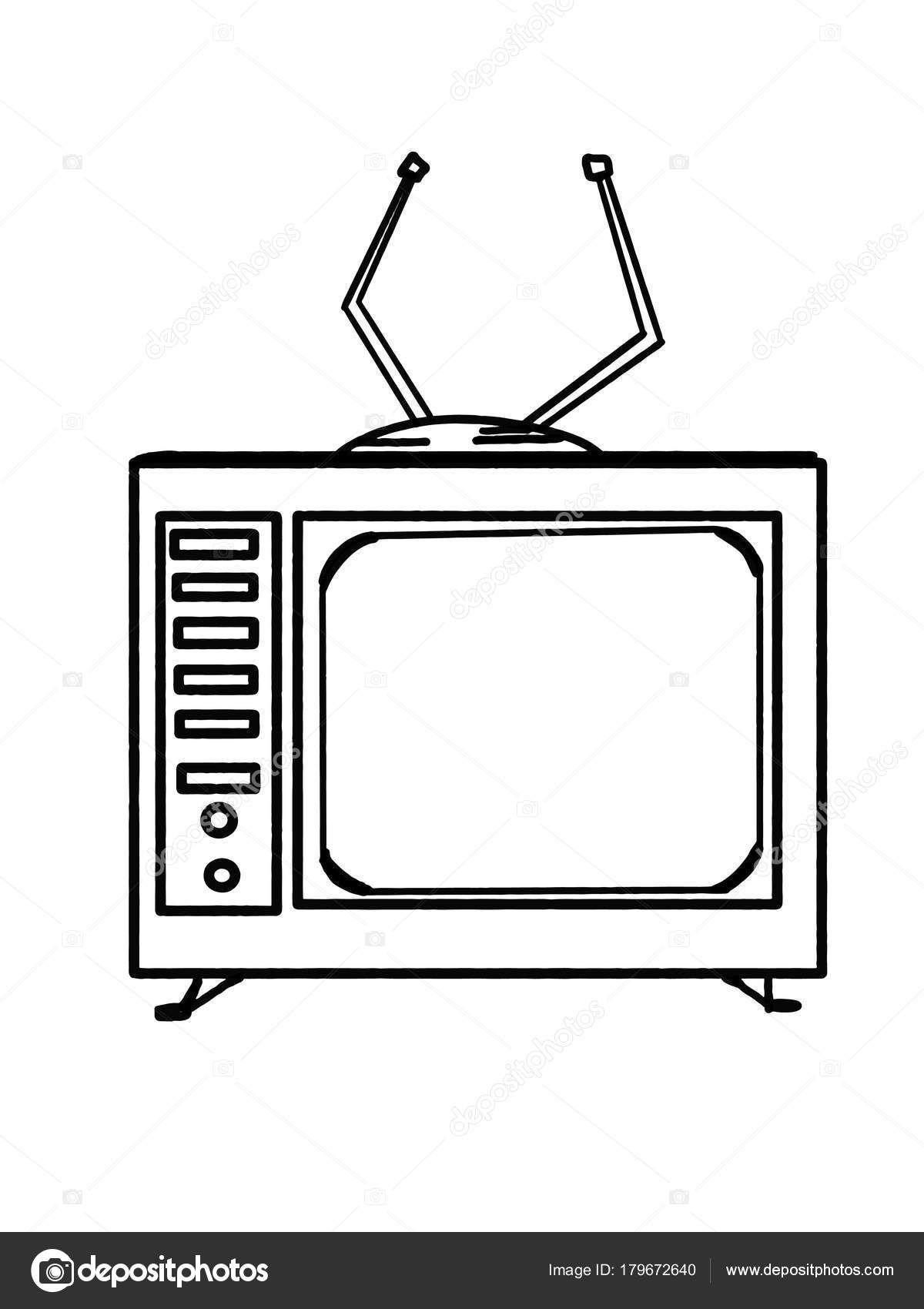 Desenho De Tv Para Colorir Pesquisa Google Desenho Desenhos