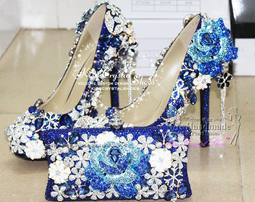 Amazing Wedding Shoes Customized Amazing Royal Blue Wedding
