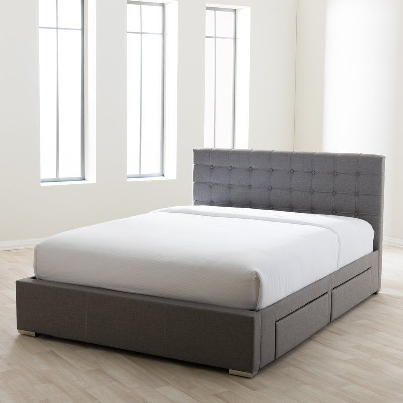 Myrrine Tufted Upholstered Storage Platform Bed Upholstered Storage Upholstered Platform Bed Bed Sizes
