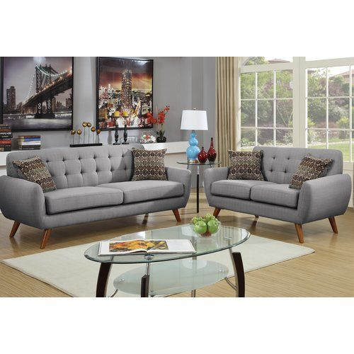 Wooten 2 Piece Living Room Set Sofa And Loveseat Set