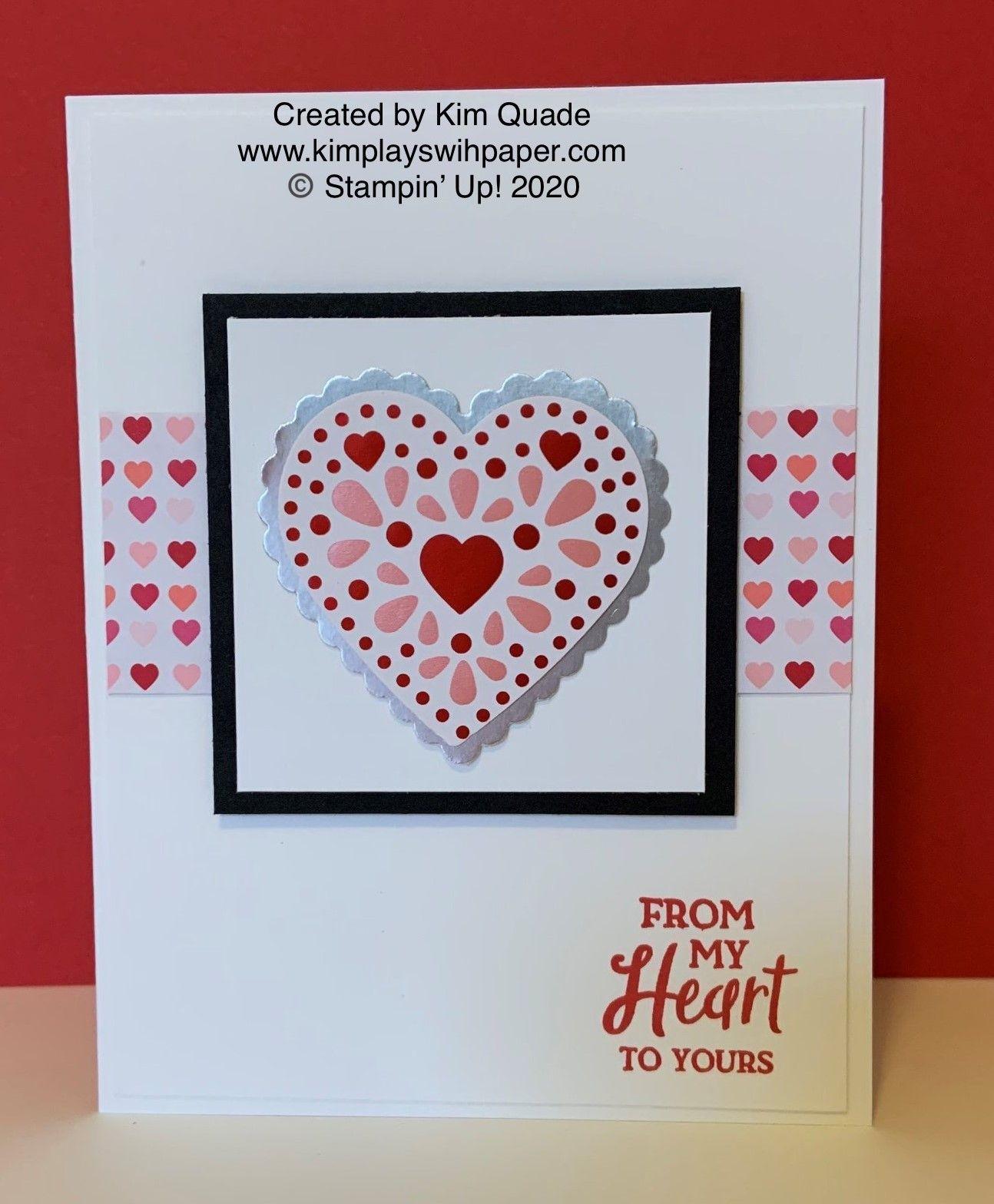 valentine card with heartfelt bundle  cards stampin up