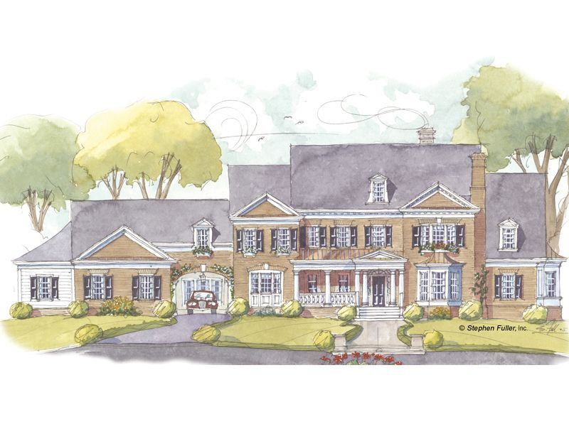 House Plan Magnolia Hill Stephen Fuller Inc Colonial Style Homes Colonial House Plans Architectural Design House Plans