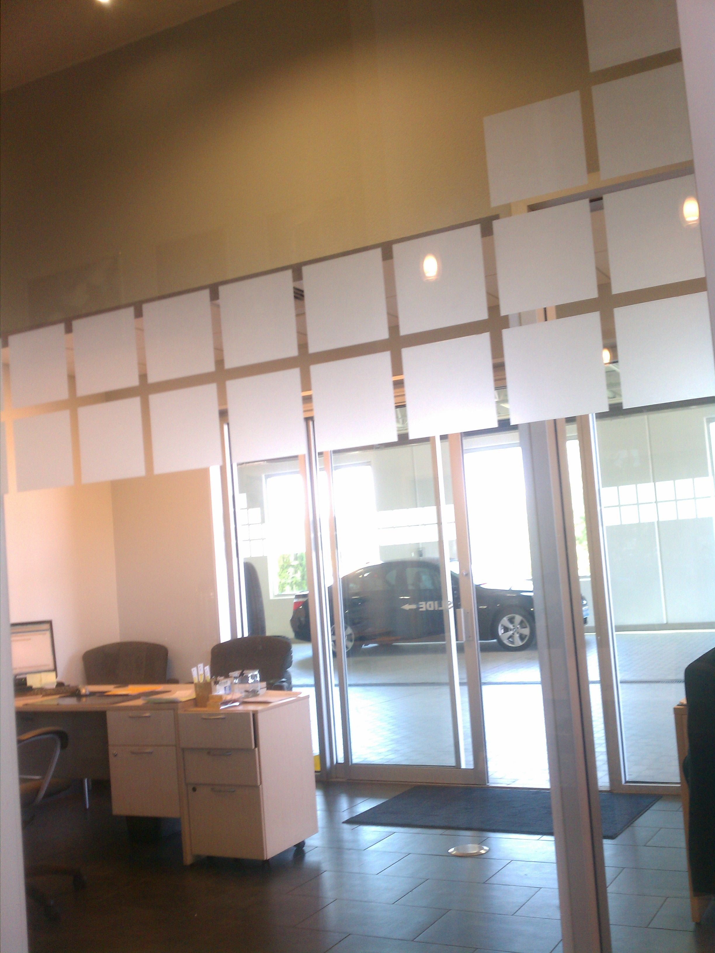 Decorative Window Film Squares Are A Great Way To Identify Sliders