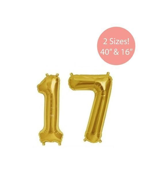 17 Gold Number Balloon, 17 Gold Balloons, Gold 17 Balloon, Jumbo 17 Balloons, 17... -  17 Gold Number Balloon, 17 Gold Balloons, Gold 17 Balloon, Jumbo 17 Balloons, 17th Birthday Balloon - #17thBirthdays #20thBirthdays #Balloon #Balloons #Birthdaysboard #Birthdayscaptions #Birthdayscupcakes #Birthdaysdinner #Birthdaysfriend #Birthdayswoman #Gold #Jumbo #Number