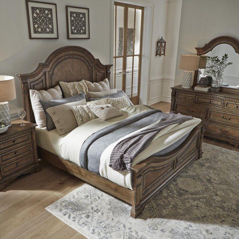 Meriam Queen Standard Configurable Bedroom Set In 2020 Bedroom Set Bed Sizes Panel Bed