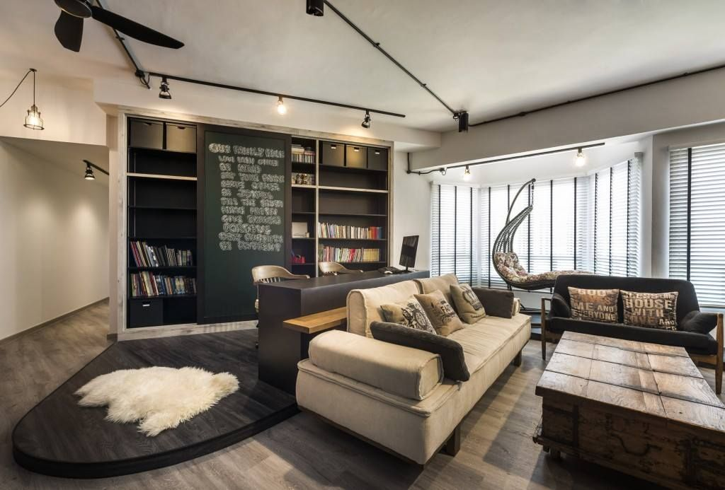 The Whole Apartment Is Decorated In Scandustrial Style With Amazing Brick Walls Industrial Elements Which