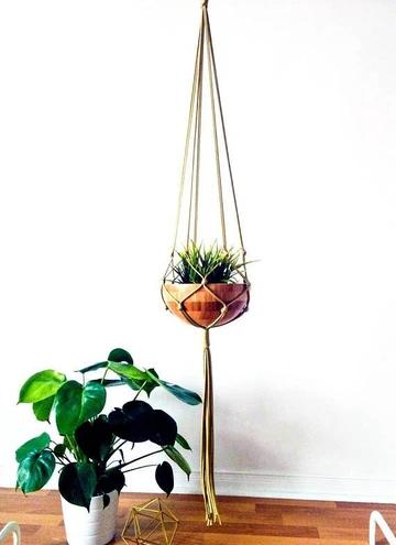 Macrame Plant Hanger, Hanging Planter