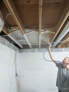 how to paint an unfinished basement ceiling  basement