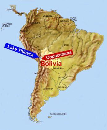 El Lago Titicaca Map