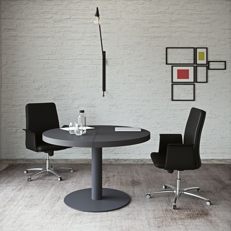 Sessanta Executive Office Round Meeting Table By Prof Office Office Interiors Meeting Table Office Small Tables