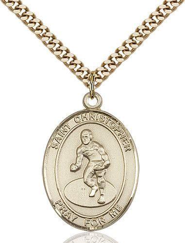 St christopherwrestling pendant 14 karat gold filled st christopherwrestling pendant gold filled by bliss catholic shopping aloadofball Image collections