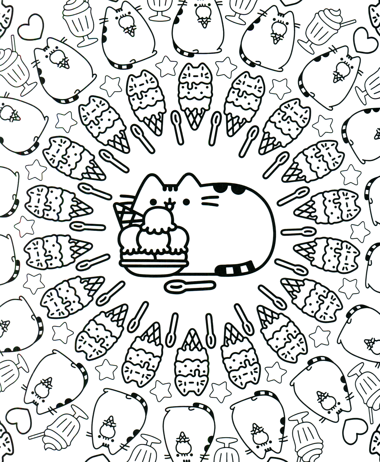Pusheen Coloring Book Pusheen Pusheen the Cat | Laminas para ...