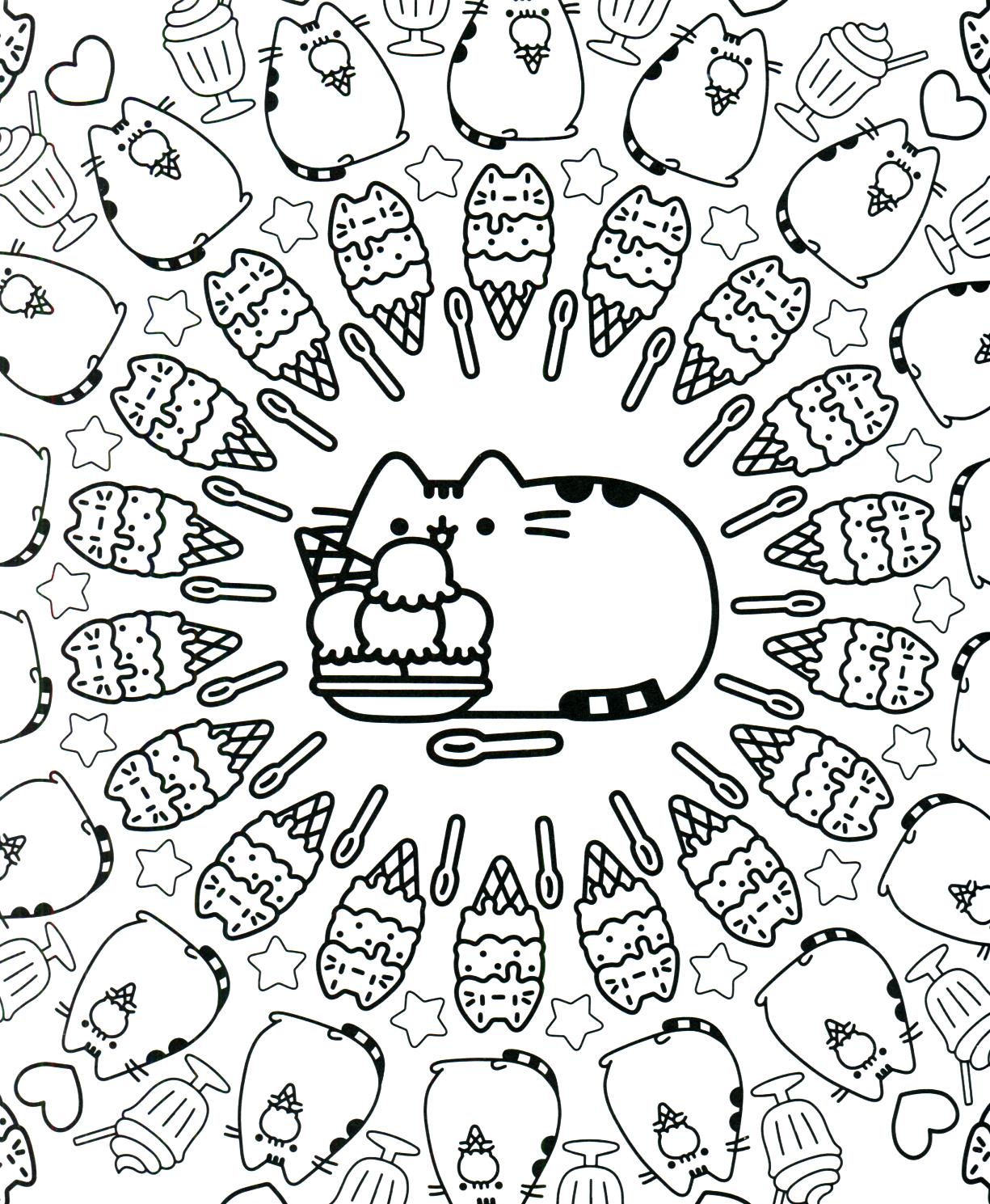 Disneys recess coloring pages - Pusheen Coloring Book Pusheen Pusheen The Cat