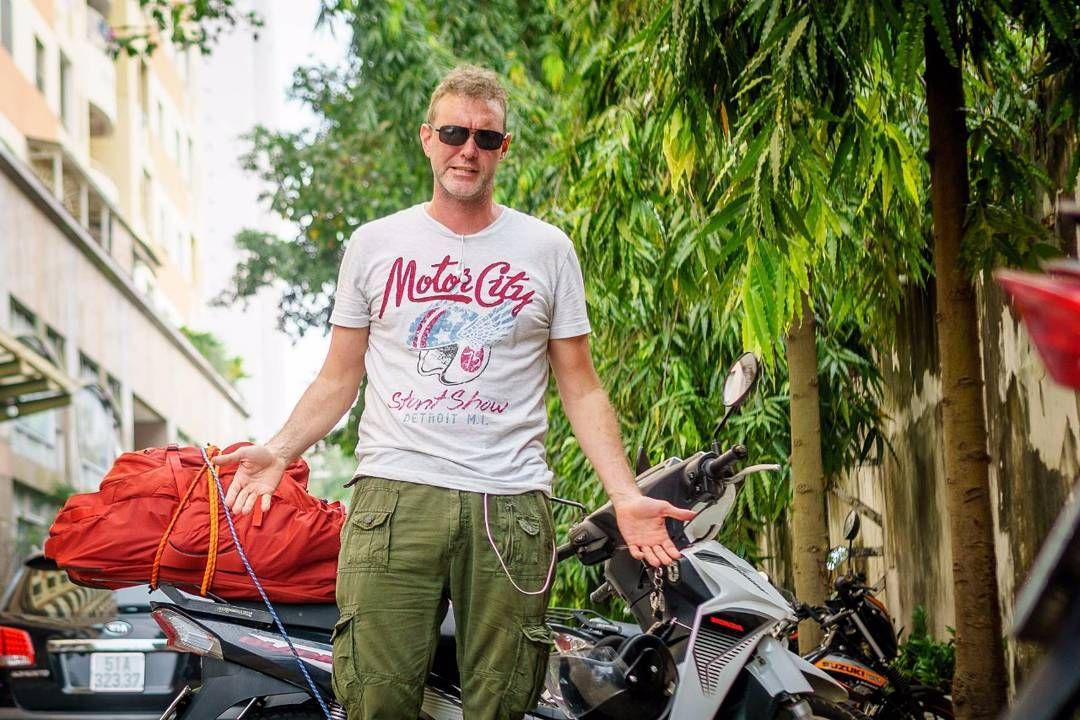 Lawrence From The Usa And Tigit Honda Blade 110 Tigitmotorbikes
