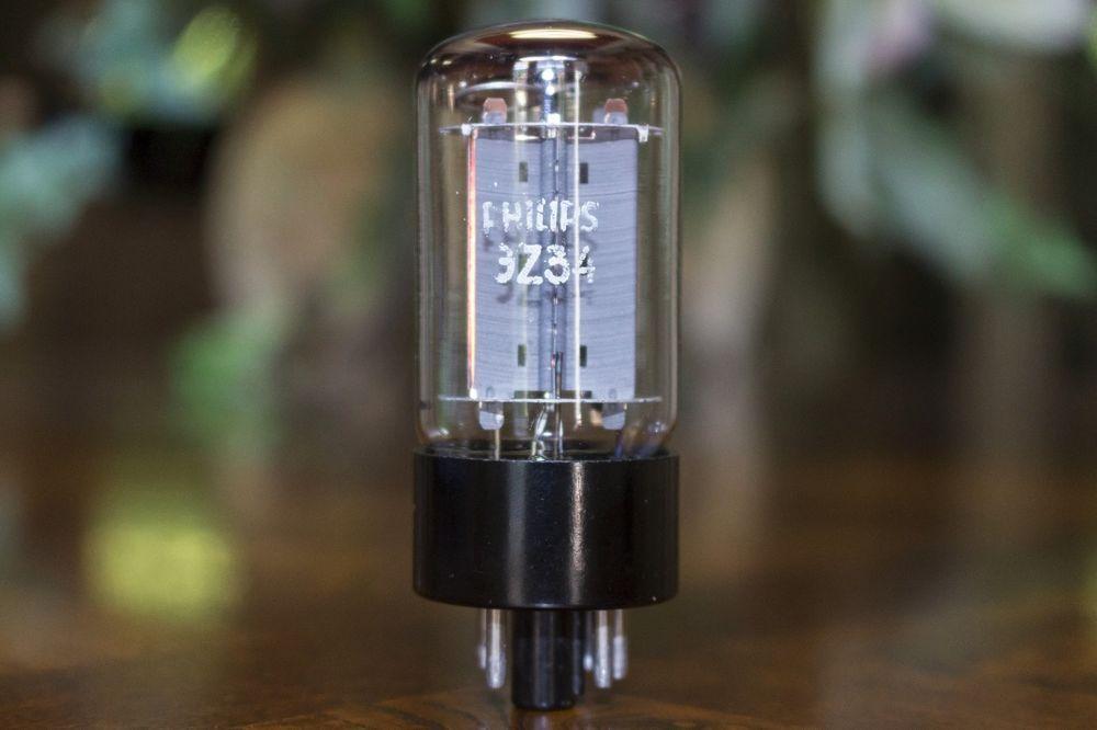 Gz34 5ar4 mullard blackburn philips 1975 7 notch copper