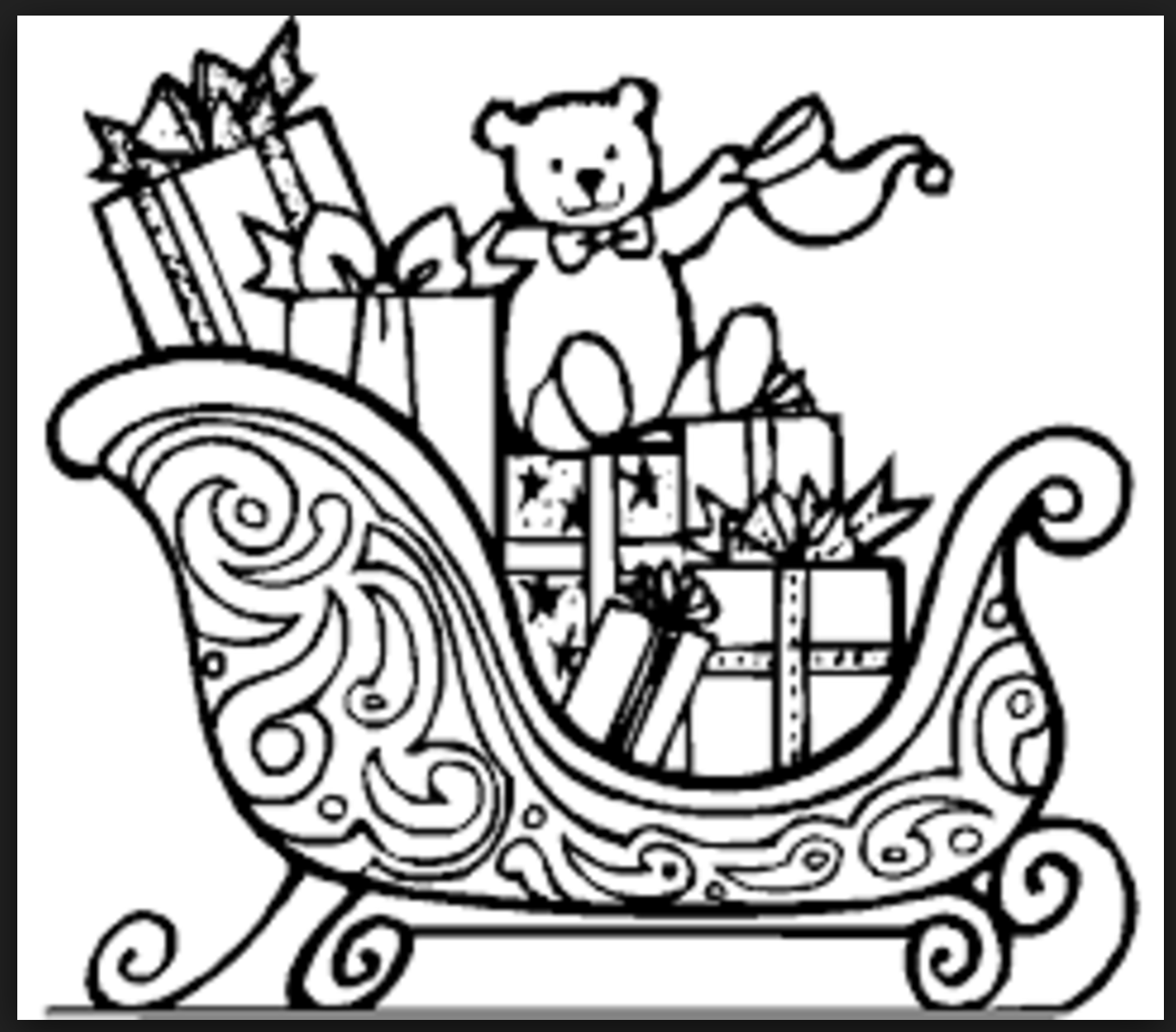 Christmas Second Grade Holiday Worksheets Sleigh Coloring Page