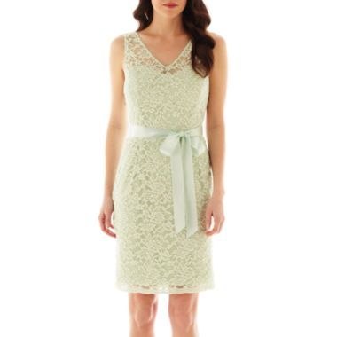 Simply Liliana Sleeveless Lace Sheath Dress  found at @JCPenney - Color: Honeydew.